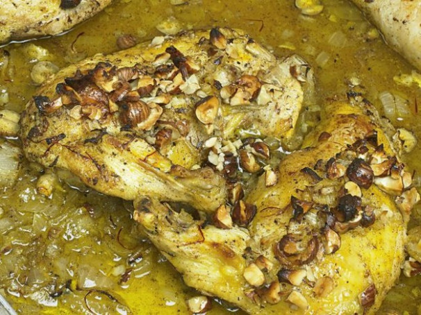 Roast Chicken With Saffron, Hazelnuts, And Honey From …