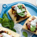 Roast Eggplant And Lamb Turkish Pizza