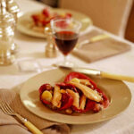 Roast Pheasant With Grapes And Walnuts