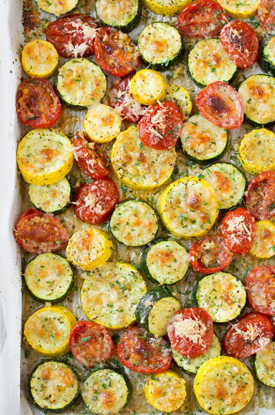 Roasted Garlic-Parmesan Zucchini, Squash and Tomatoes ...