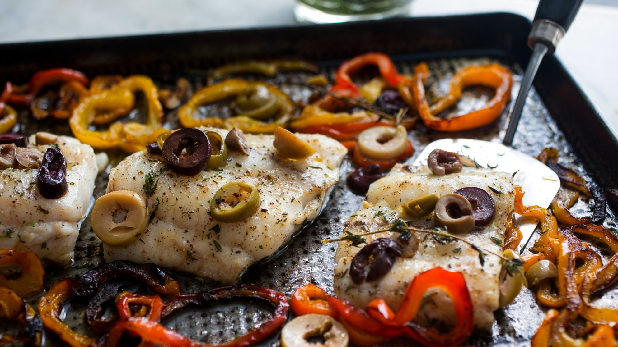 Roasted Hake With Sweet Peppers Recipe - NYT Cooking