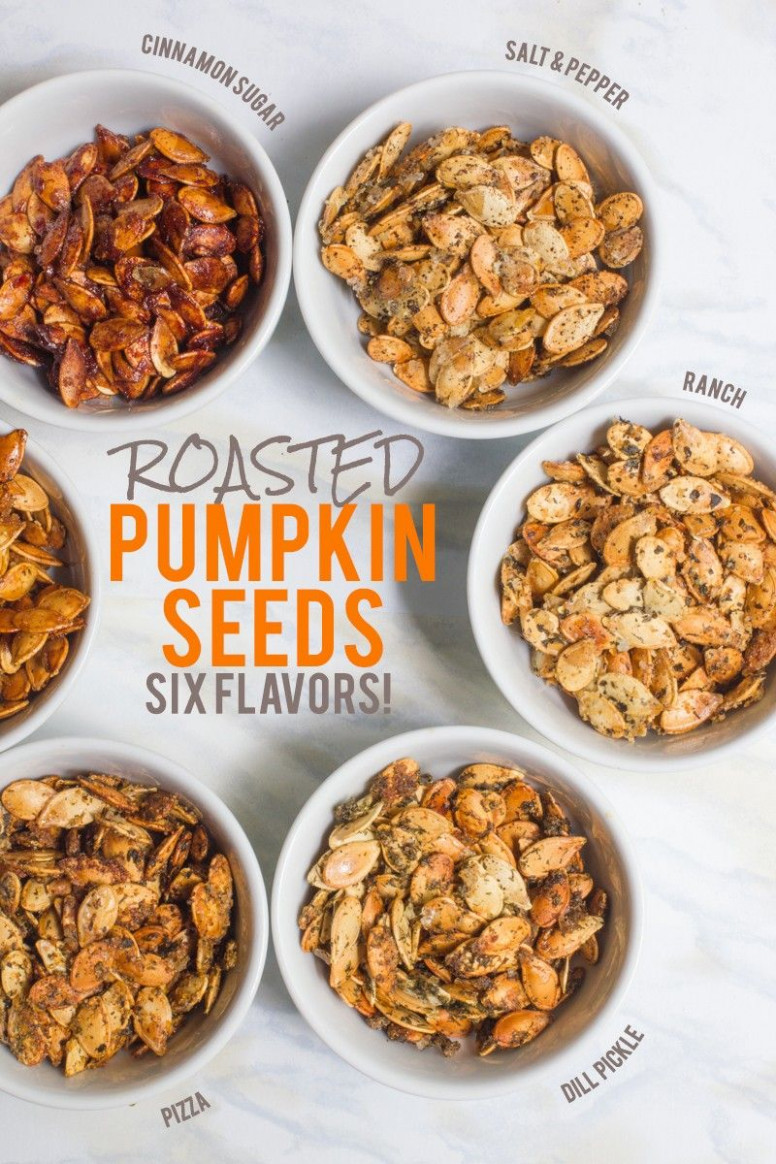 Roasted Pumpkin Seeds /// Six Ways | Fall Baking Recipes ...