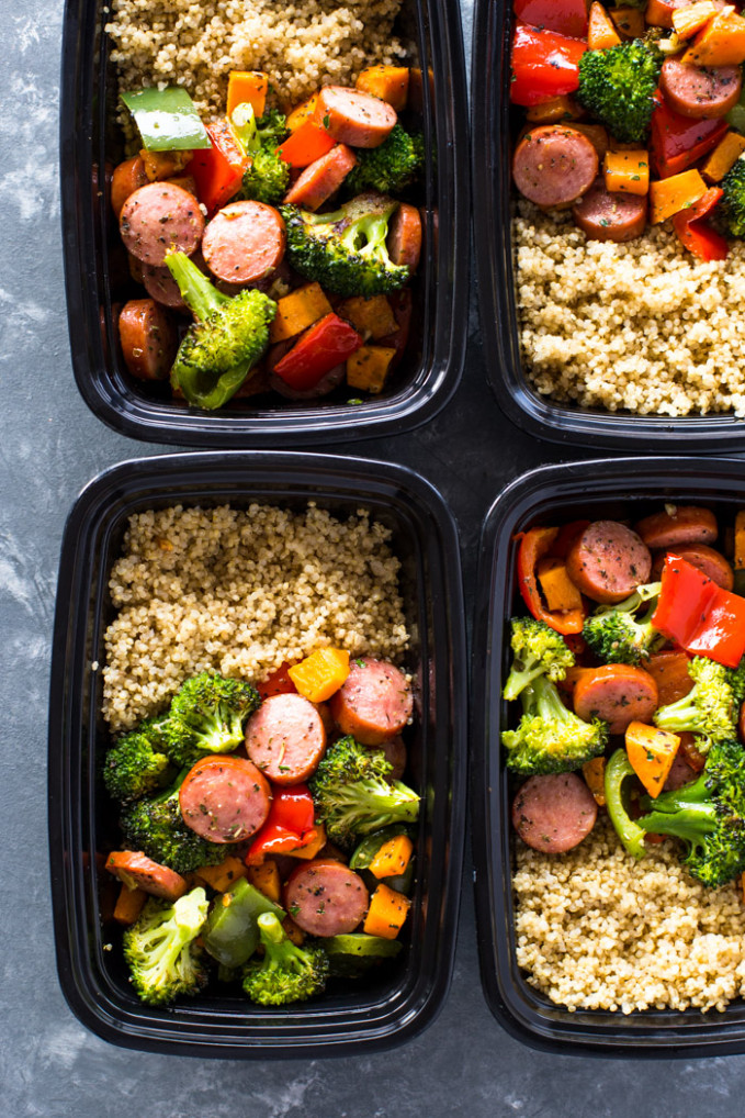 Roasted Sausage, Veggies and Quinoa Meal-Prep | Gimme ...