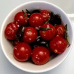 Roasted Tomatoes With Olives And Fleur De Sel Http://annefretz.blogspot