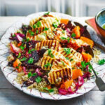 Roasted Vegetable Quinoa Salad With Griddled Halloumi …