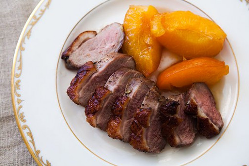 Rosemary Duck with Apricots Recipe | SimplyRecipes