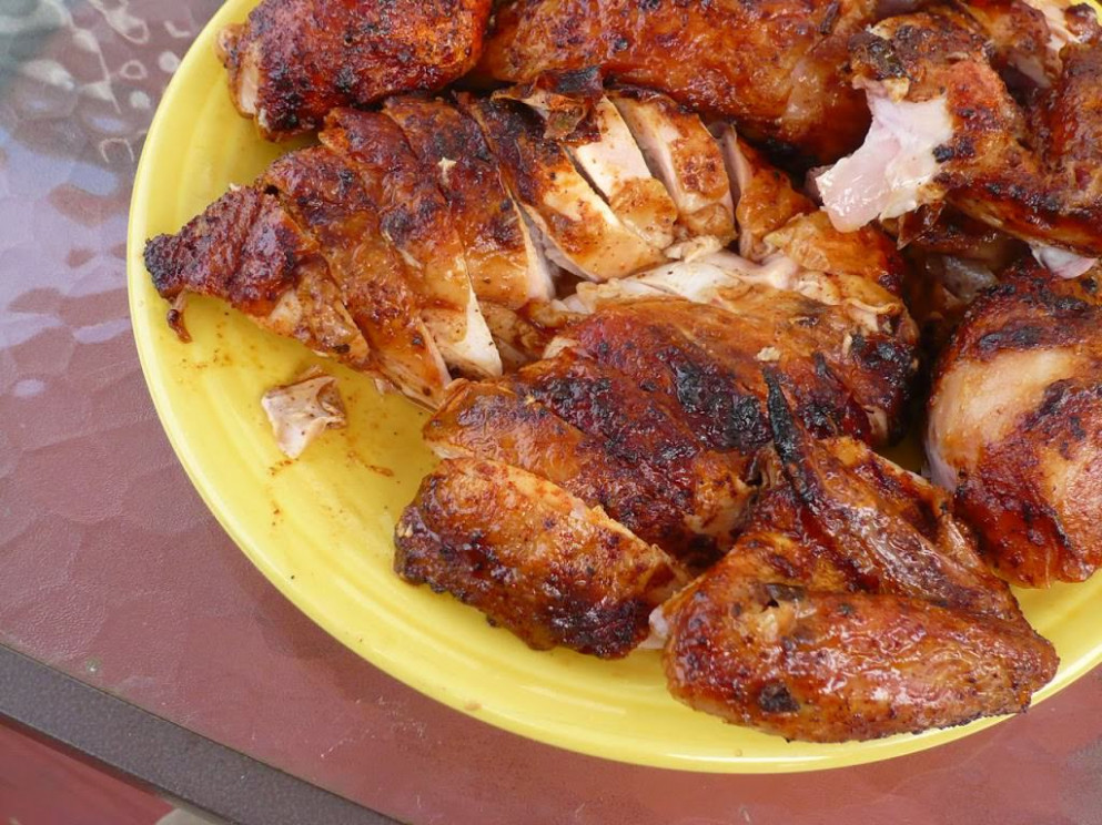 Rotisserie Chicken with Red Chile Marinade (Pollo Adobado ...