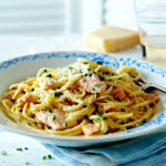 Salmon Carbonara Recipe | Salmon Pasta Recipes | Tesco …