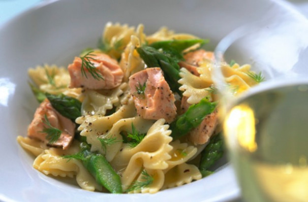 Salmon pasta with creme fraiche recipe - goodtoknow