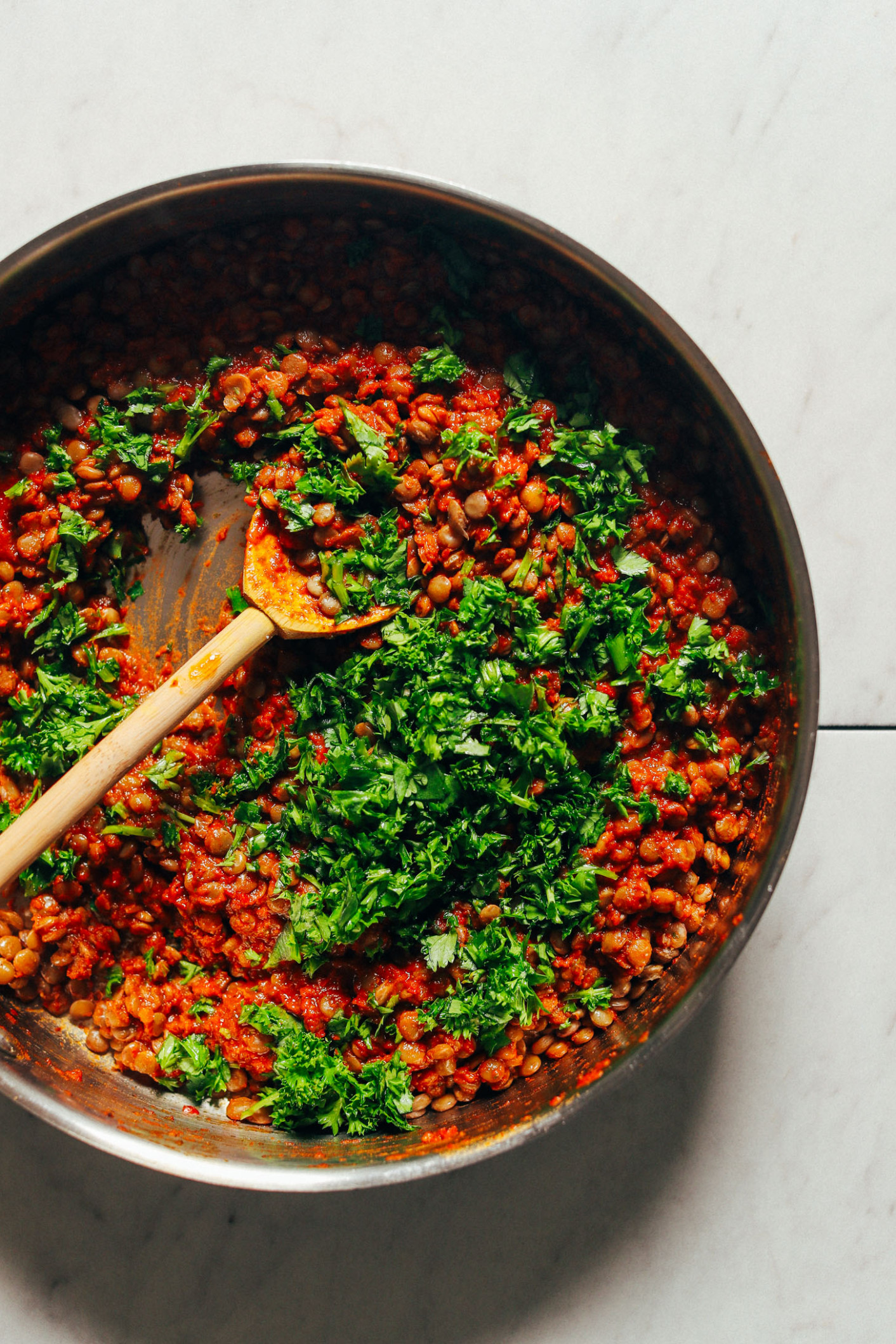 Saucy Moroccan-Spiced Lentils