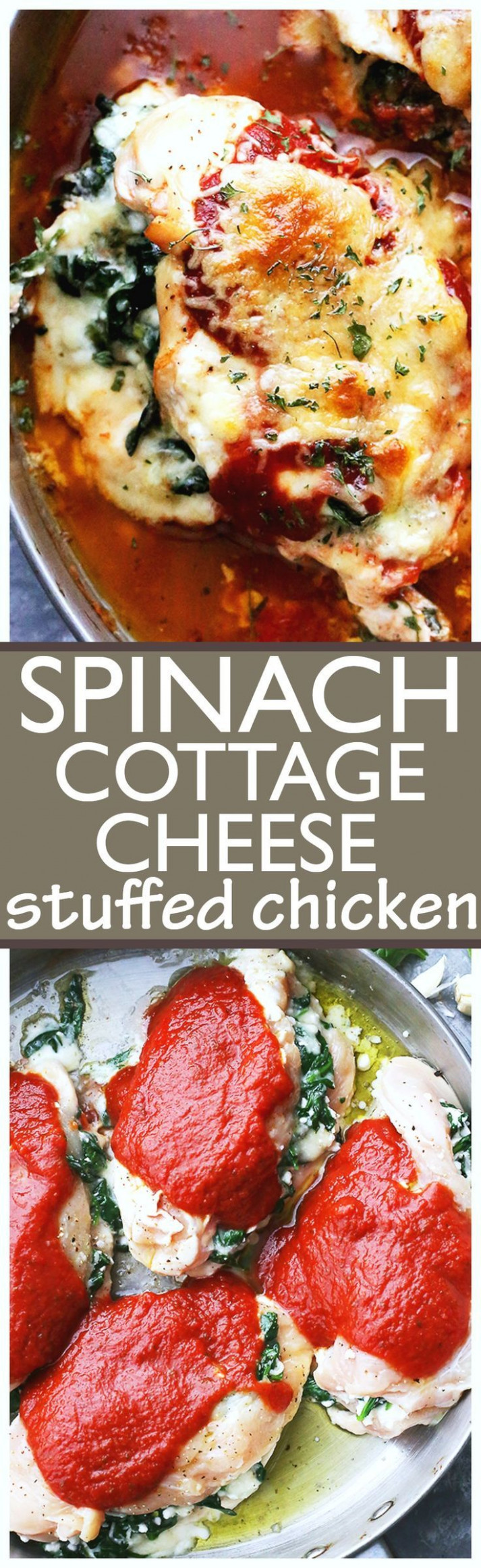 Saucy Spinach And Cottage Cheese Stuffed Chicken – Easy …