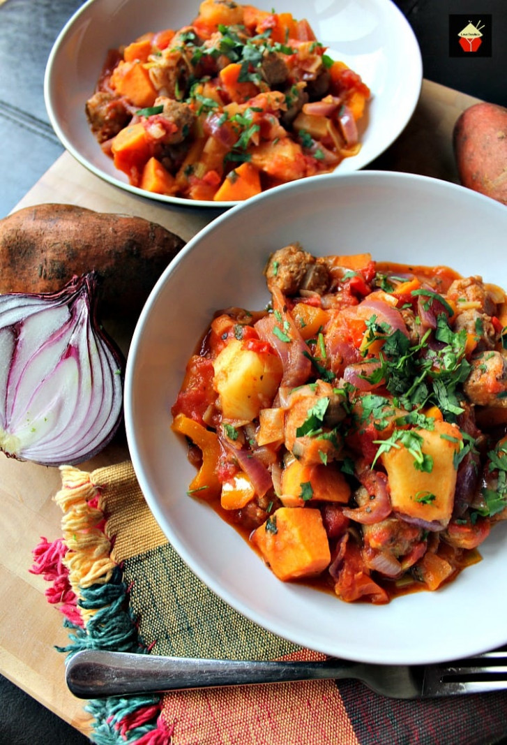 Sausage and Sweet Potato Dinner. A really quick, easy and ...