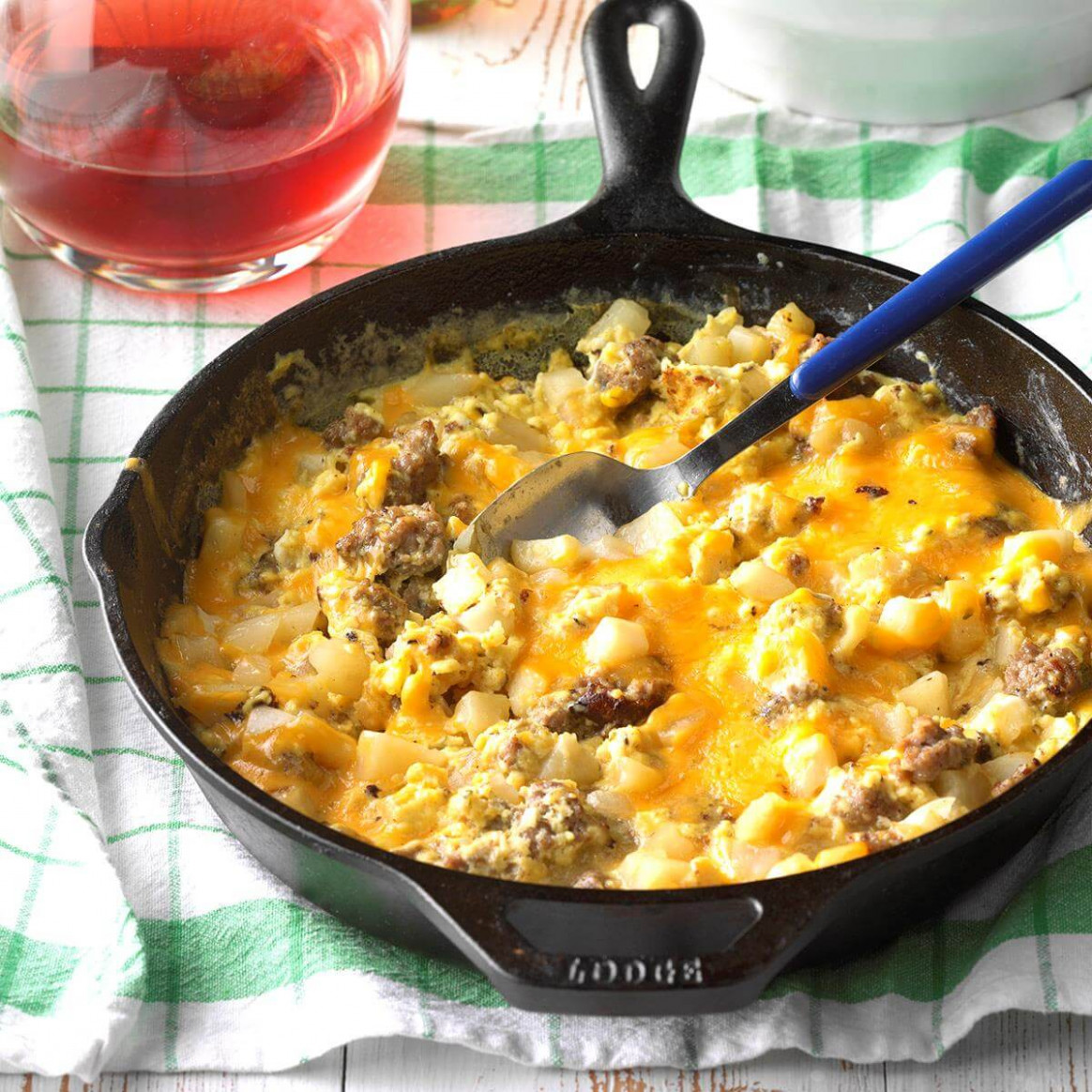 Sausage, Egg And Cheddar Farmer's Breakfast Recipe | Taste …