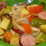 Sausage Pepper And Potato Bake!