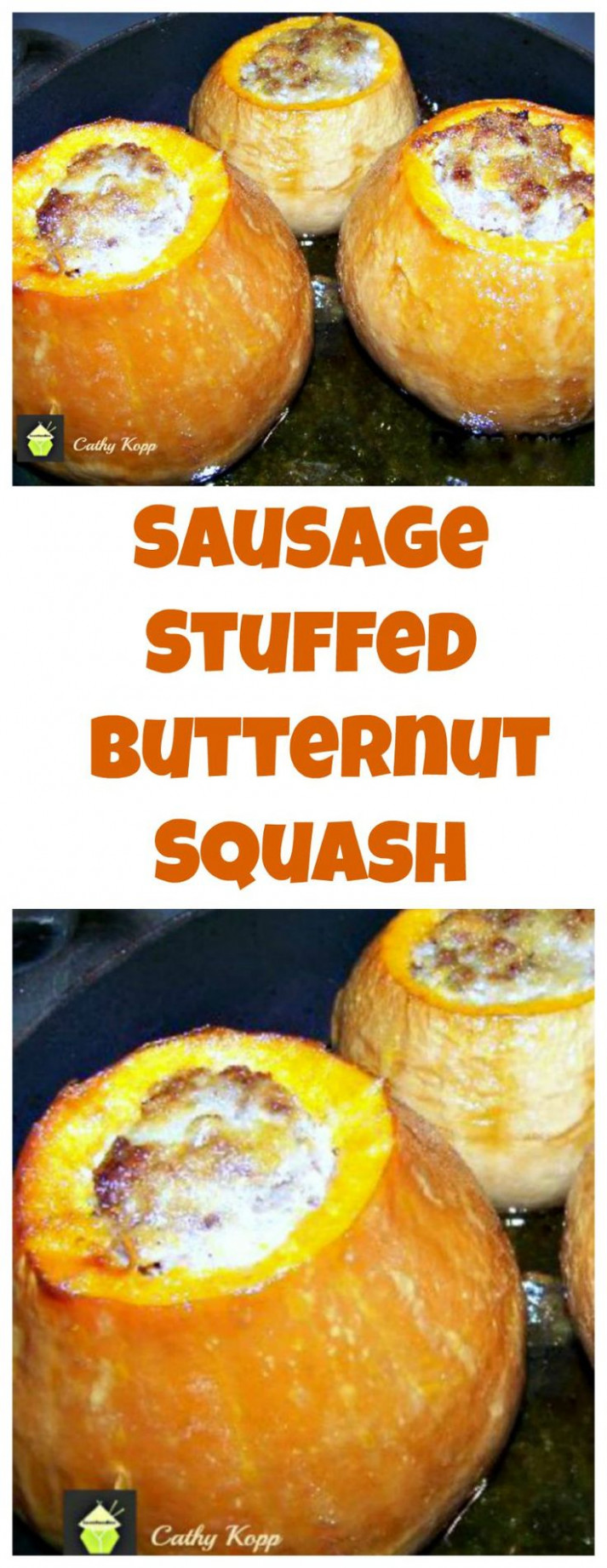 Sausage Stuffed Butternut Squash . A very easy recipe and ...