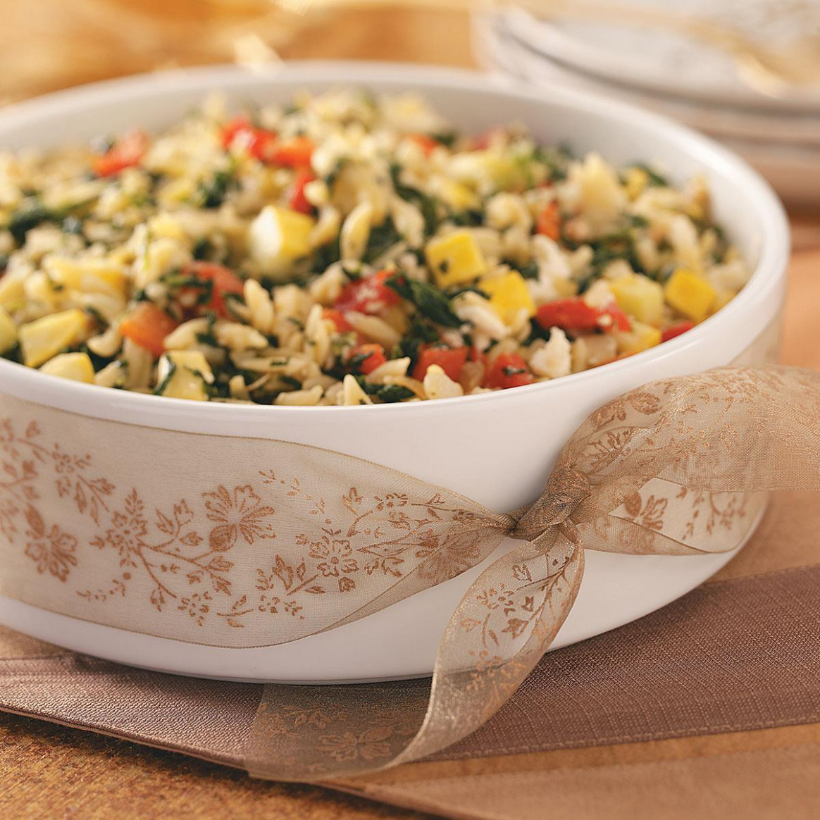 Savory Mediterranean Orzo Recipe | Taste of Home