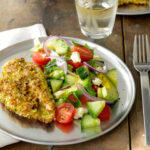 Sesame And Pistachio Chicken Schnitzel With Turkish Salad …
