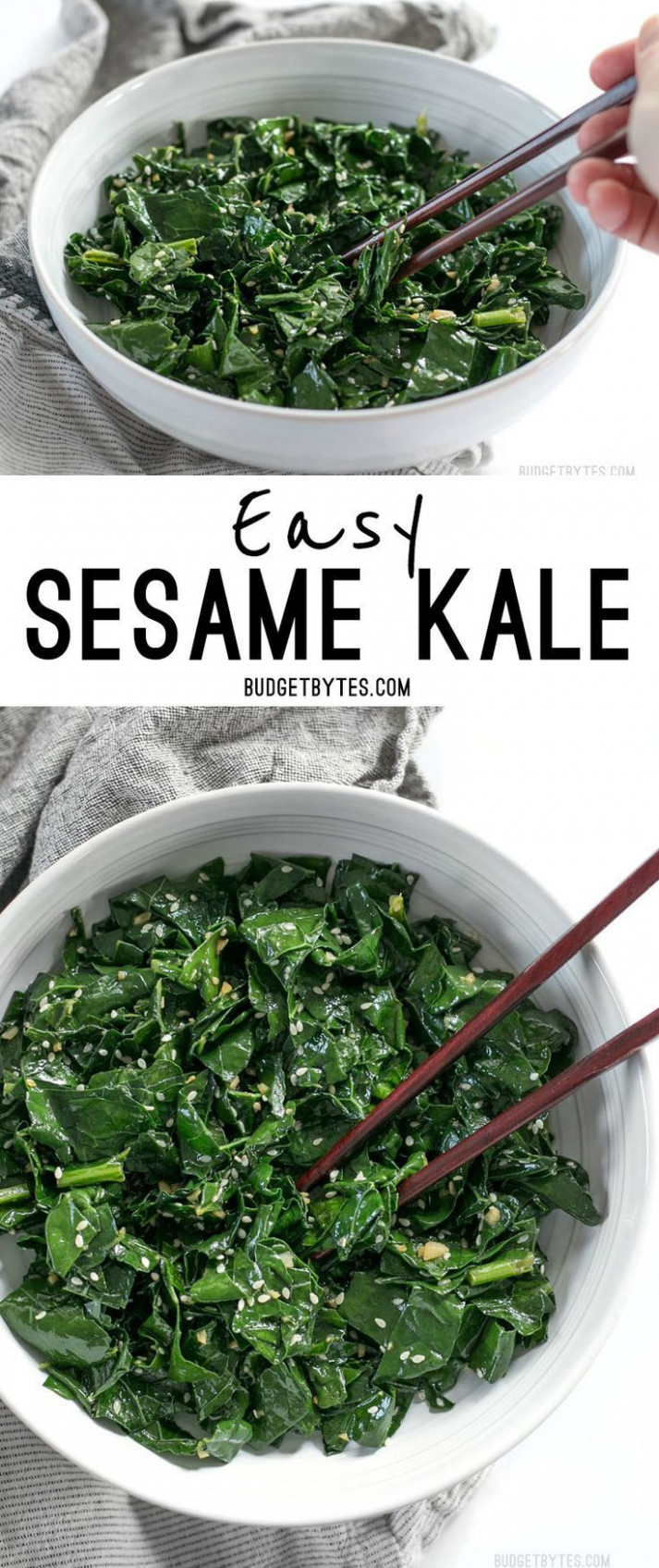 Sesame Kale | Recipe | Looks Yummy | Food dishes, Veggie ...