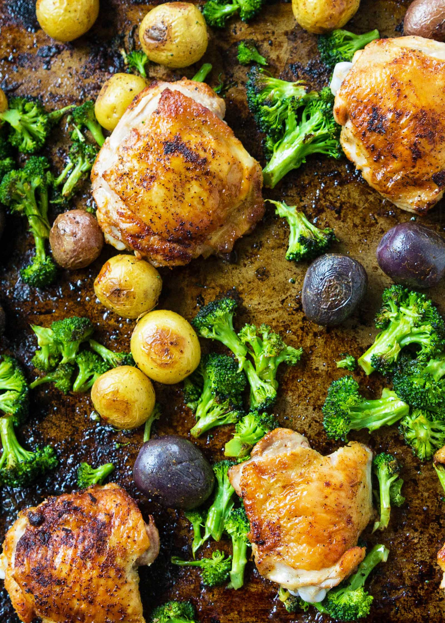 Sheet Pan Chicken with Roasted Broccoli and Potatoes ...