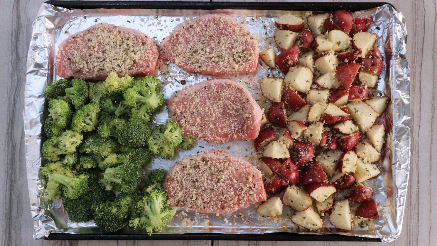 Sheet Pan Garlic Parmesan Pork Chop Recipe
