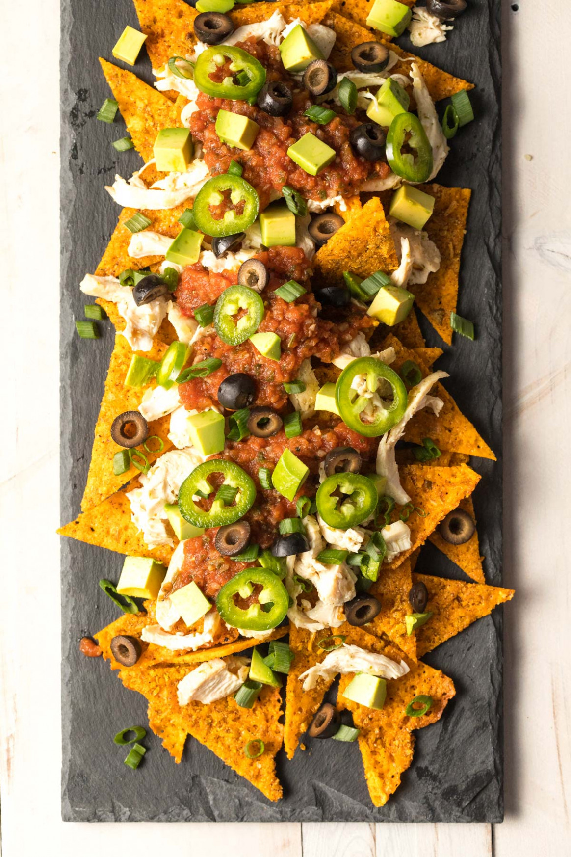 Sheet Pan Keto Chicken Nachos