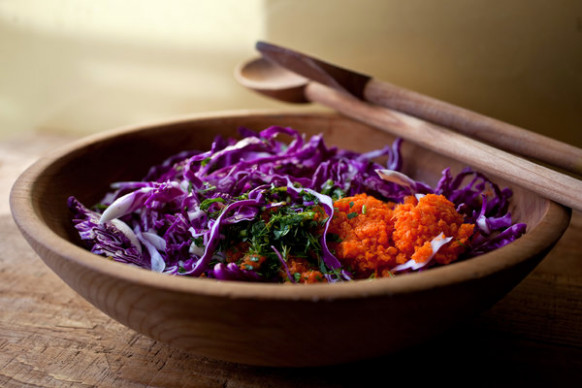 Shredded Red Cabbage and Carrot Salad Recipe - NYT Cooking