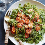 Shrimp And Arugula Pesto Pasta