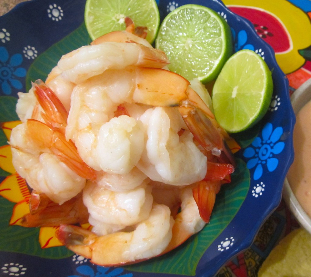 Shrimp Cocktail, Fried Tortilla & Classic French Cocktail Sauce   @ Home By Hans Susser