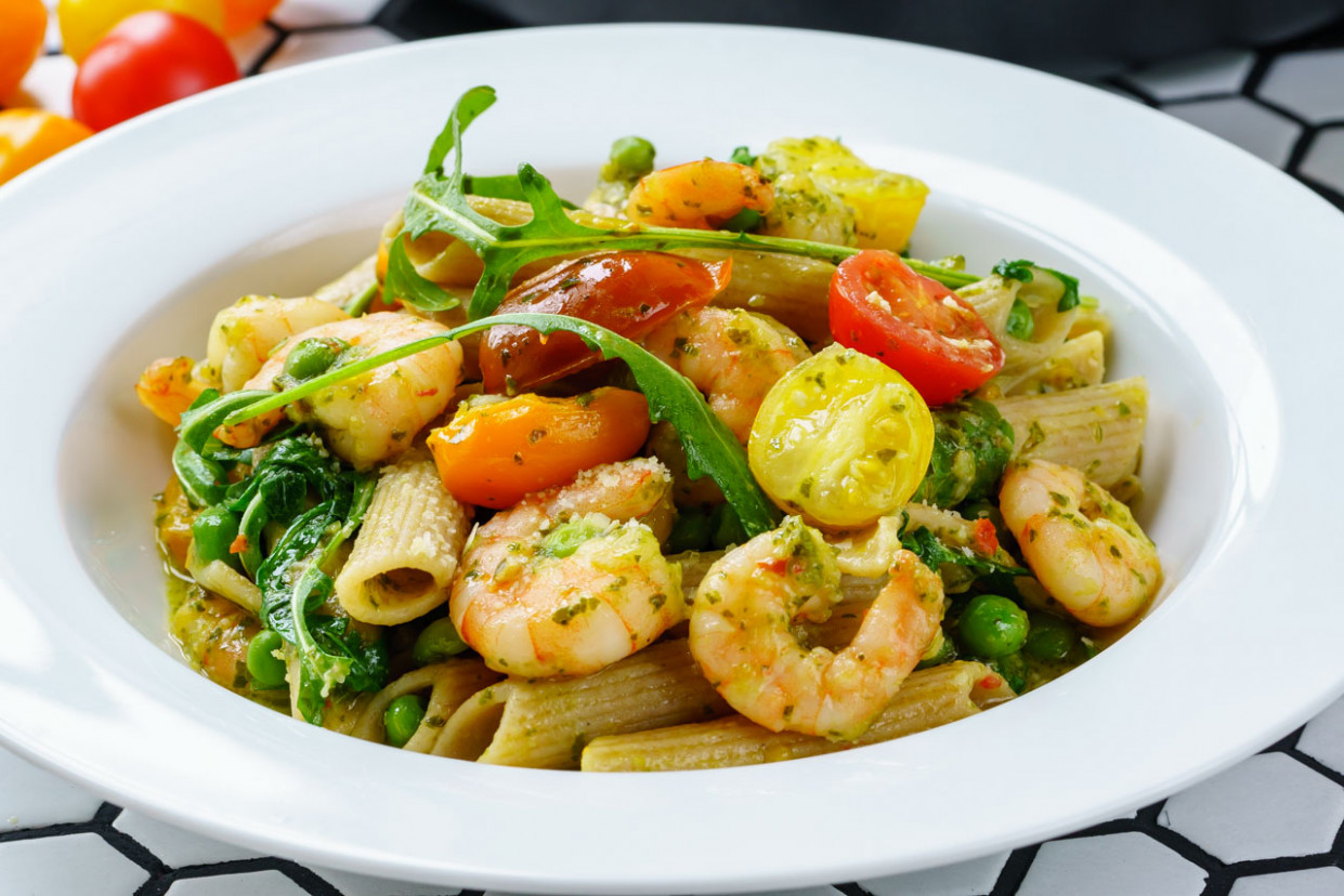 shrimp pesto pasta recipe healthy