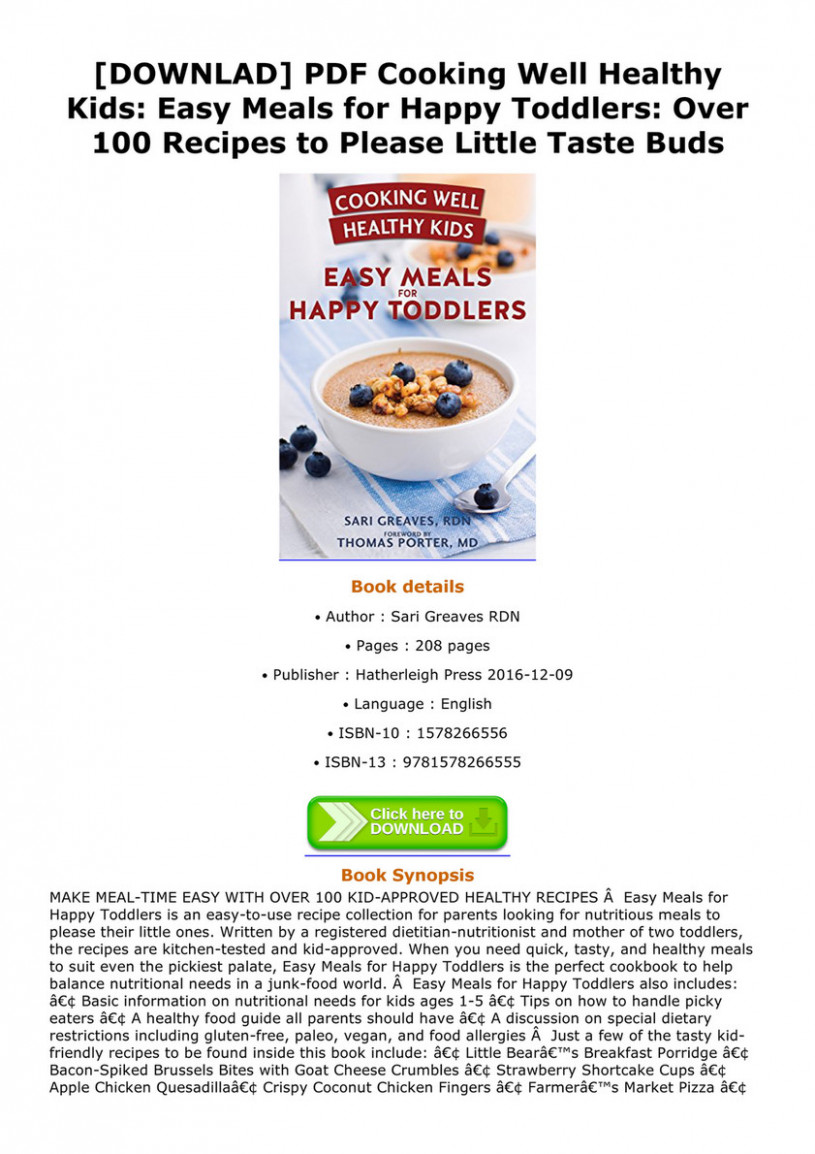 Silas - DOWNLAD PDF Cooking Well Healthy Kids Easy Meals for ...