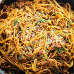 Simple Beef Linguine Pasta With Parmesan And Basil …