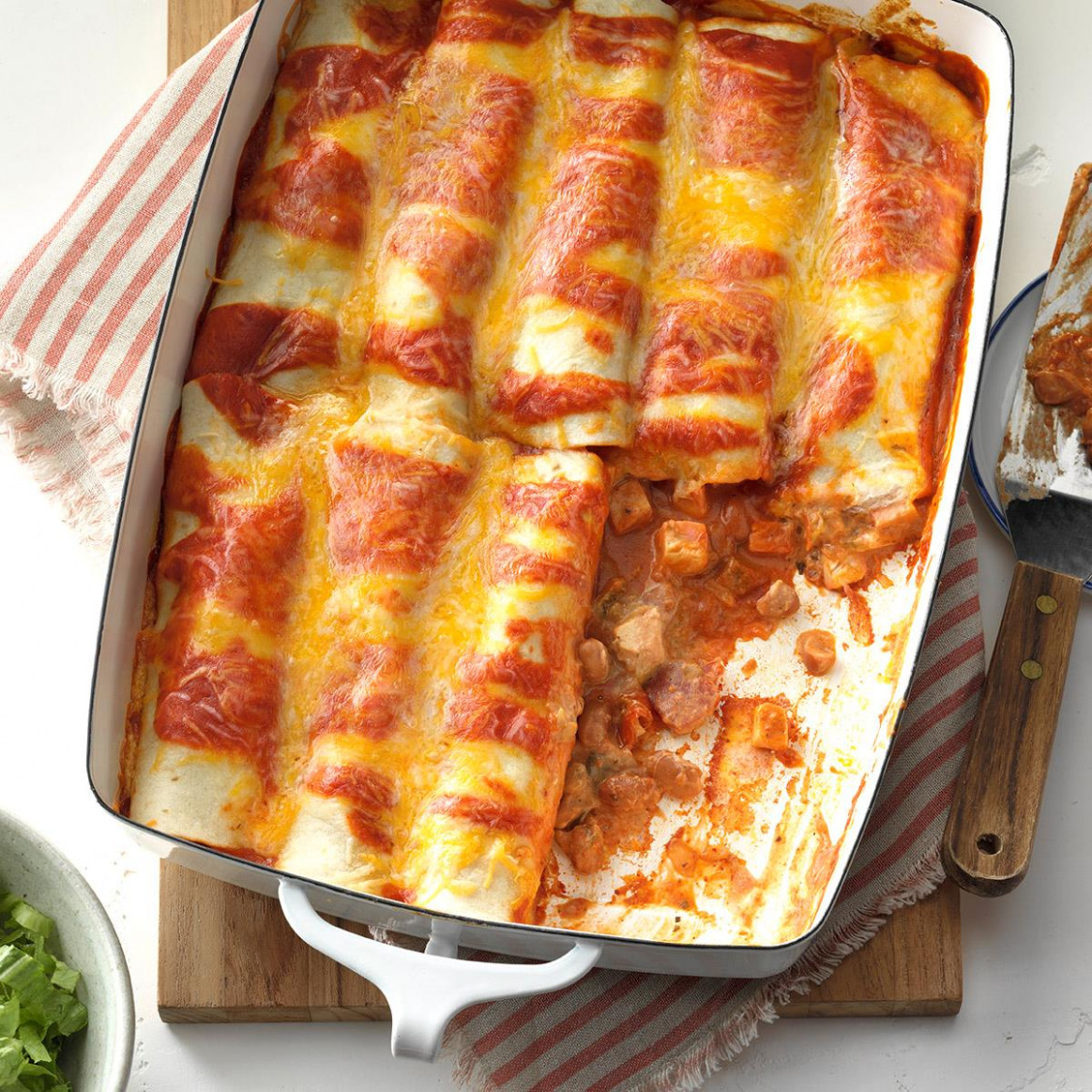 Simple Chicken Enchiladas Recipe | Taste of Home