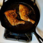 Simple Chicken Leg Quarter In Cast Iron [Recipe In Comments …
