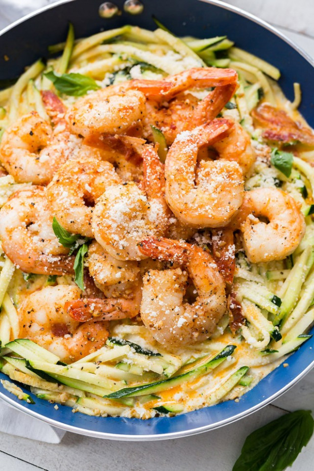 Simple Garlic Shrimp Alfredo With Zoodles - Good Cook Good ...