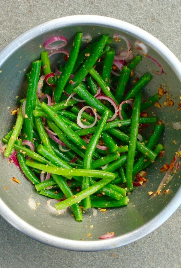 Simple Green Bean Salad Recipe : The Reluctant Gourmet