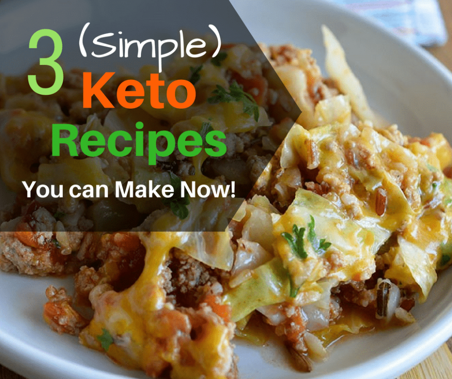 Simple Keto Recipes You Can Make Right Now!