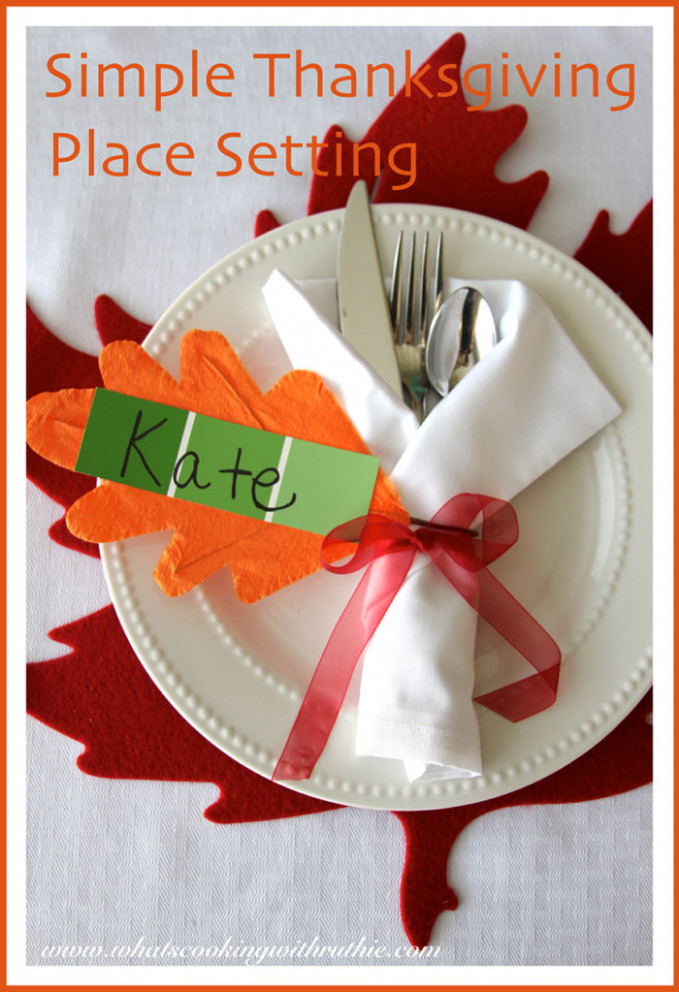 Simple Thanksgiving Place Setting - Cooking With Ruthie