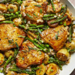 Skillet Chicken Thighs With Spring Vegetables And Shallot …