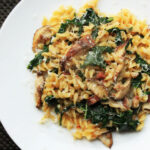 Skillet Pasta With Mushrooms, Pancetta, And Wilted Greens …