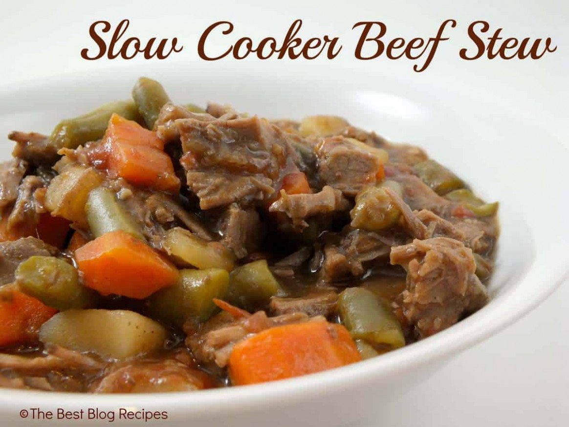 Slow Cooker Beef Stew - The Best Blog Recipes
