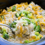 Slow Cooker Chicken, Broccoli And Rice Casserole