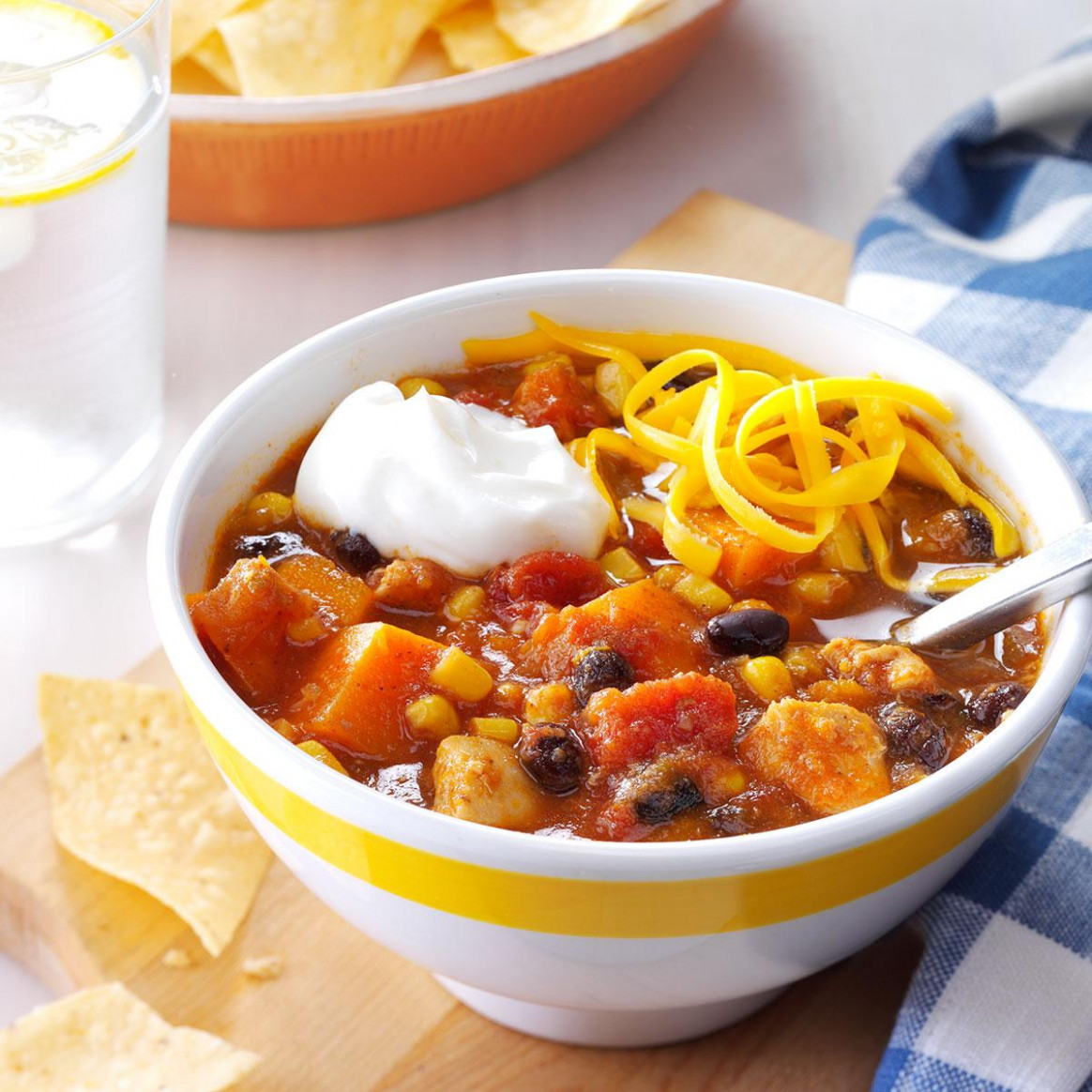 Slow-Cooker Chicken & Sweet Potato Chili