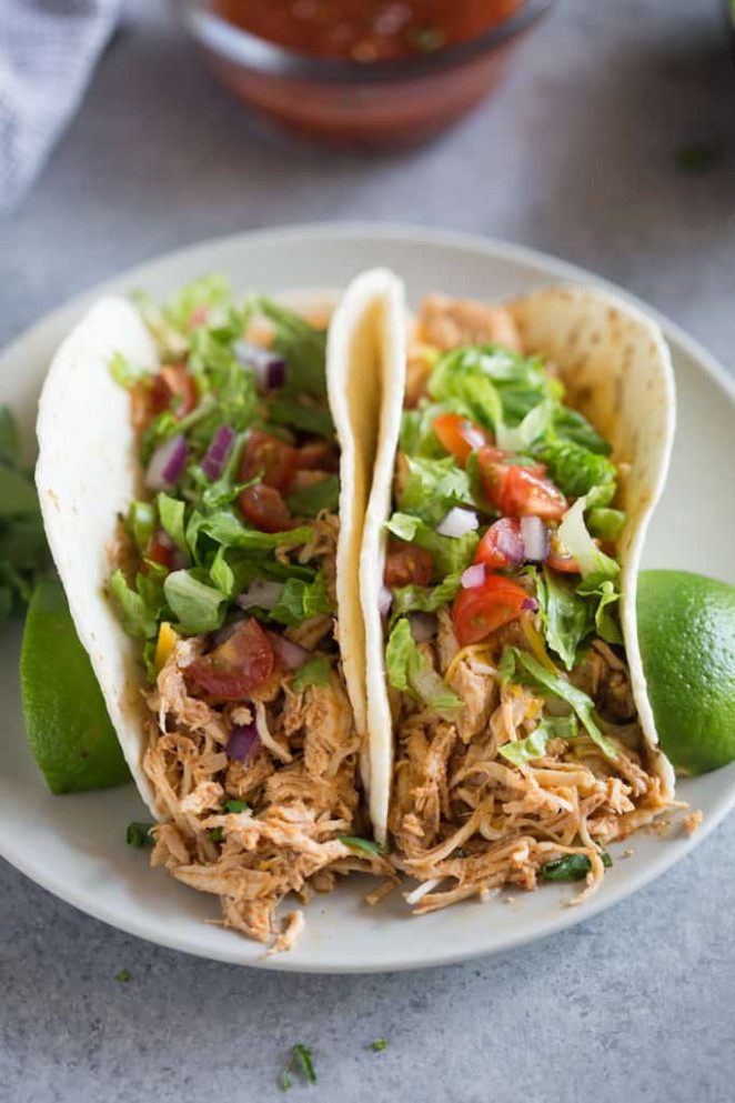 Slow Cooker Chicken Tacos - Tastes Better From Scratch