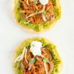 Slow Cooker Chicken Tinga Tostadas – Slow Cooker Gourmet