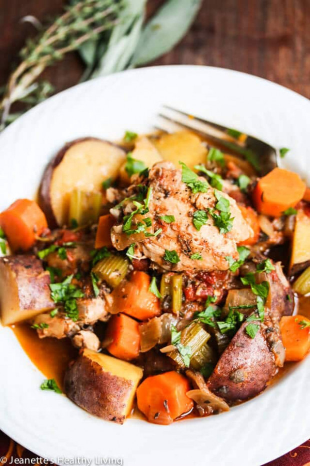 Slow Cooker Chicken Vegetable Stew Recipe - Jeanette's ...