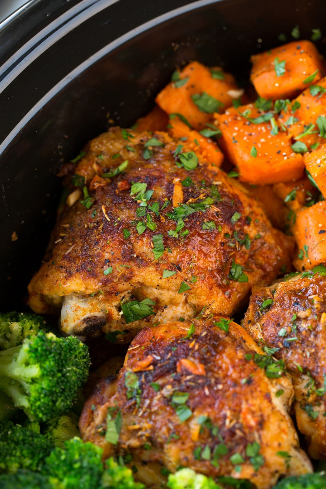 Slow Cooker Chicken with Sweet Potatoes and Broccoli ...