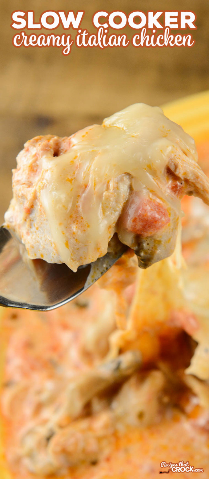 Slow Cooker Creamy Italian Chicken - Recipes That Crock!