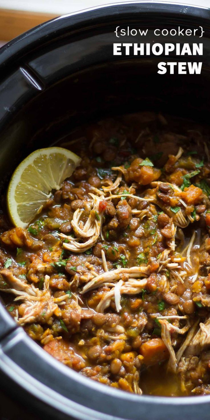 Slow Cooker Ethiopian Chicken & Lentil Stew | Recipe ...