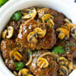 Slow Cooker Salisbury Steak - Dinner at the Zoo