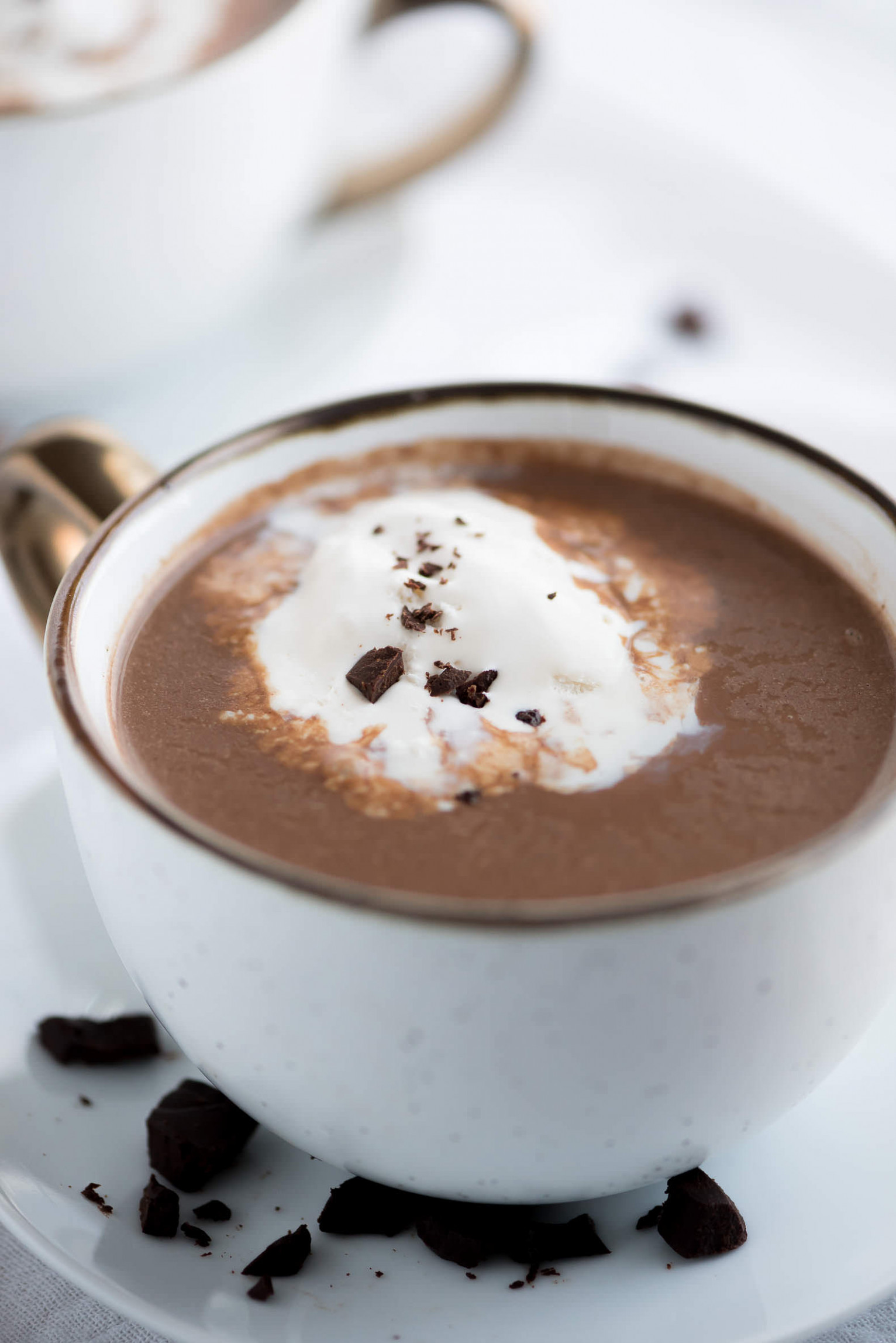 Slow Cooker Salted Caramel Hot Chocolate